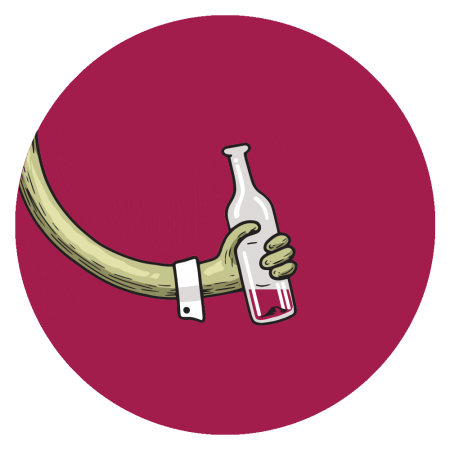 Fizzy wine red