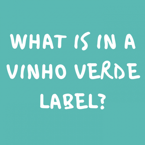 What is in a vinho verde wine label